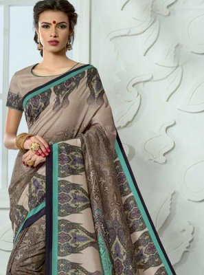 Multi Colour Tussar Silk Casual Saree