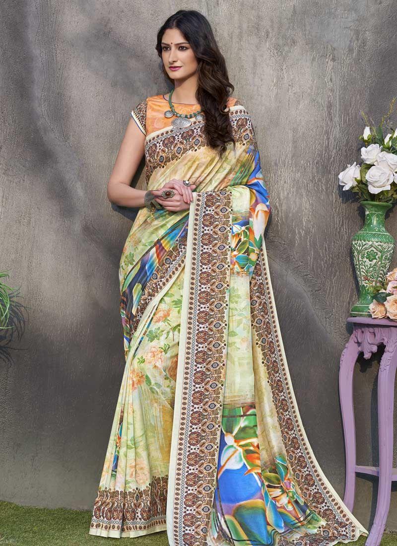 Multi Colour Tussar Silk Designer Traditional Saree