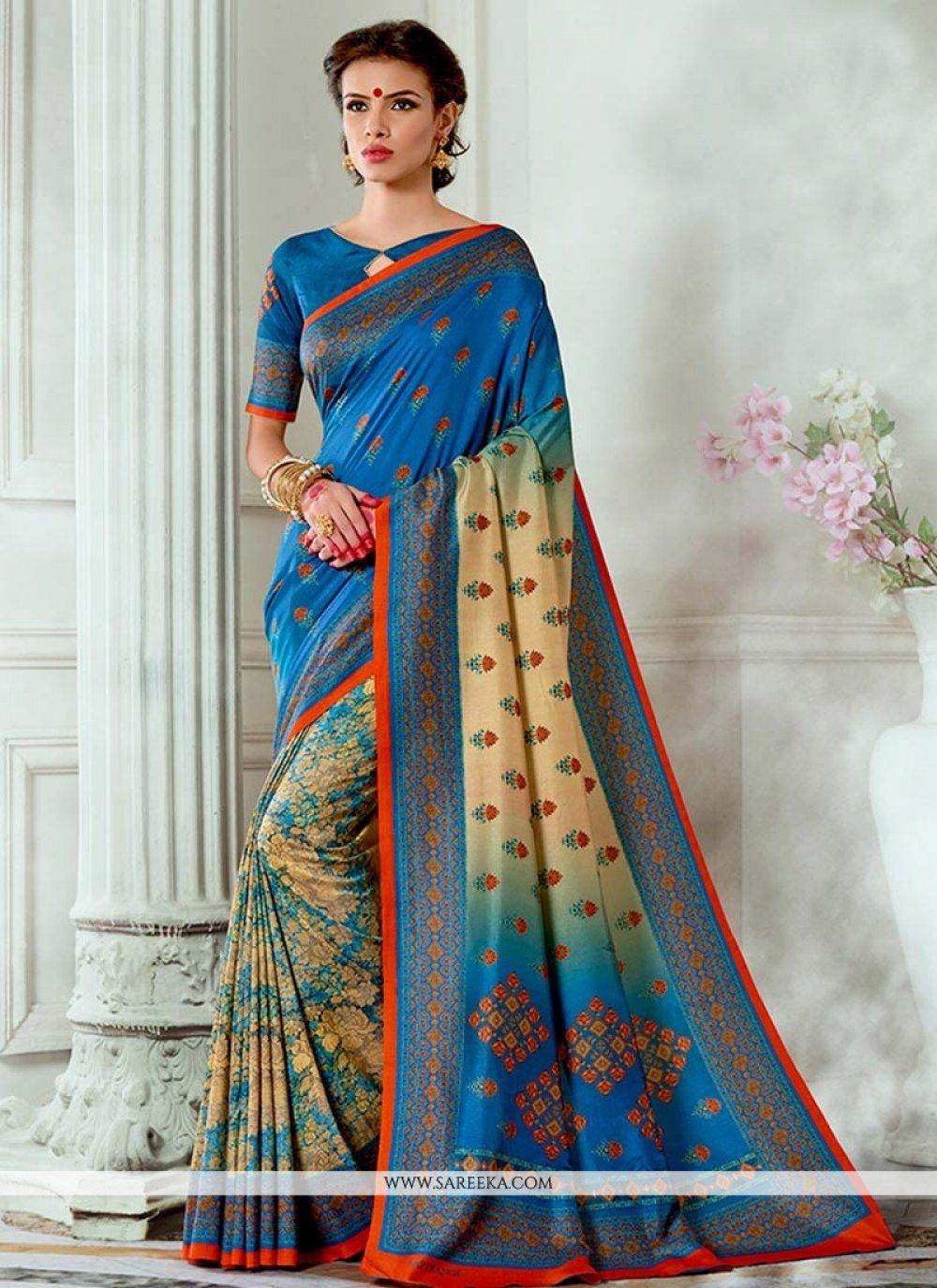 Multi Colour Tussar Silk Traditional  Saree