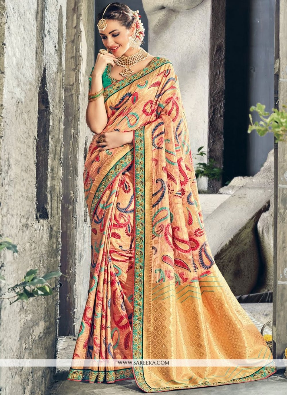 Multi Colour Weaving Work Designer Traditional Saree
