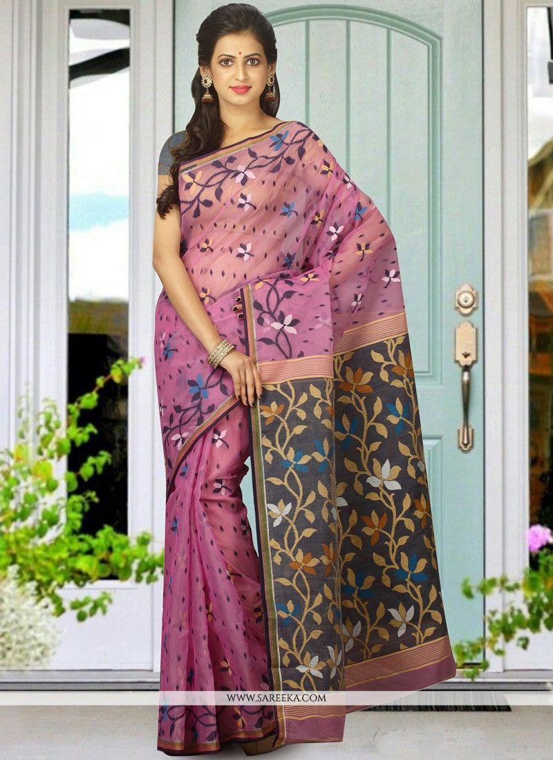 Multi Colour woven Work Cotton Silk Traditional  Saree