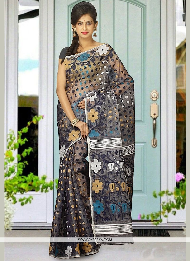 Multi Colour woven Work Traditional  Saree