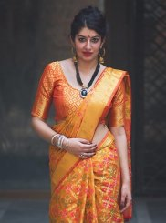Mustard and Orange Classic Saree