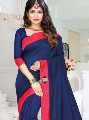 Navy Blue Fancy Party Traditional  Saree