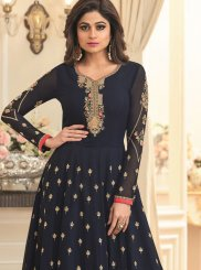 Navy Blue Sangeet Anarkali Suit