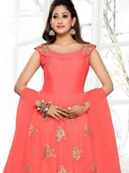 Net Embroidered Readymade Anarkali Suit