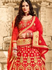 Net Embroidered Work Lehenga Choli