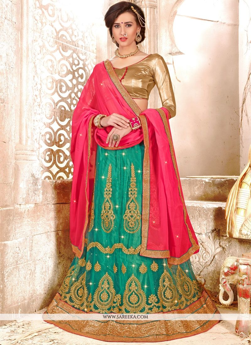 Net Lace Work Lehenga Choli