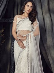 Net Mehndi Designer Saree