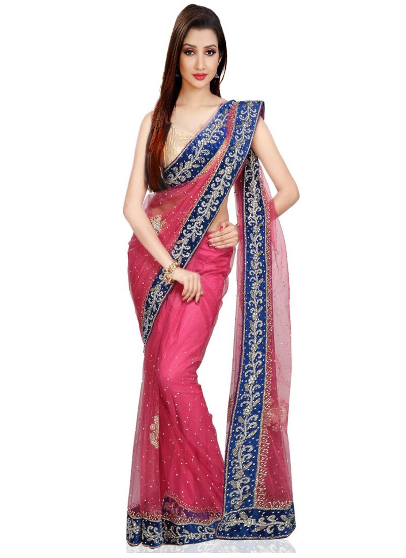 Net Moti Work Trendy Saree