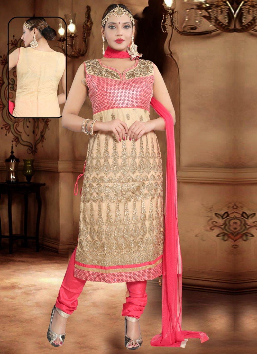 Net Pink Salwar Suit