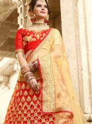 Net Red Lace Work Lehenga Choli