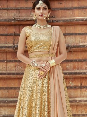 Net Sequins Work Designer Lehenga Choli