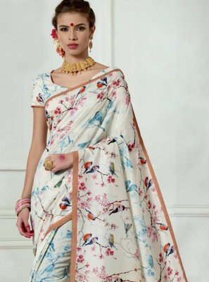 Off White Casual Saree