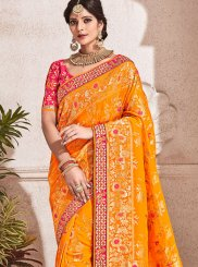 Orange Bridal Traditional Designer Saree