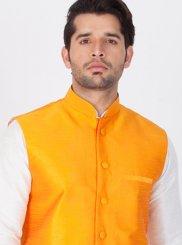 Orange Buttons Festival Nehru Jackets