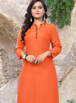 Orange Casual Kurti