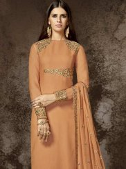 Orange Designer Pakistani Suit