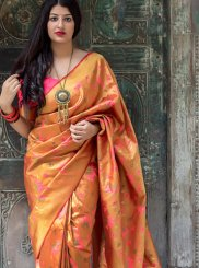 Orange Traditional Designer Saree