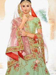 Patch Border Sea Green Lehenga Choli
