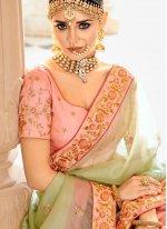 Patch Border Wedding Lehenga Choli