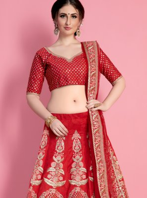 Patch Border Work Art Silk Lehenga Choli