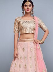 Patch Border Work Net Lehenga Choli