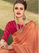 Peach Bollywood Saree