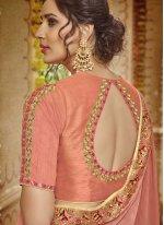Peach Ceremonial Trendy Saree