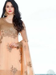 Peach Designer Pakistani Suit