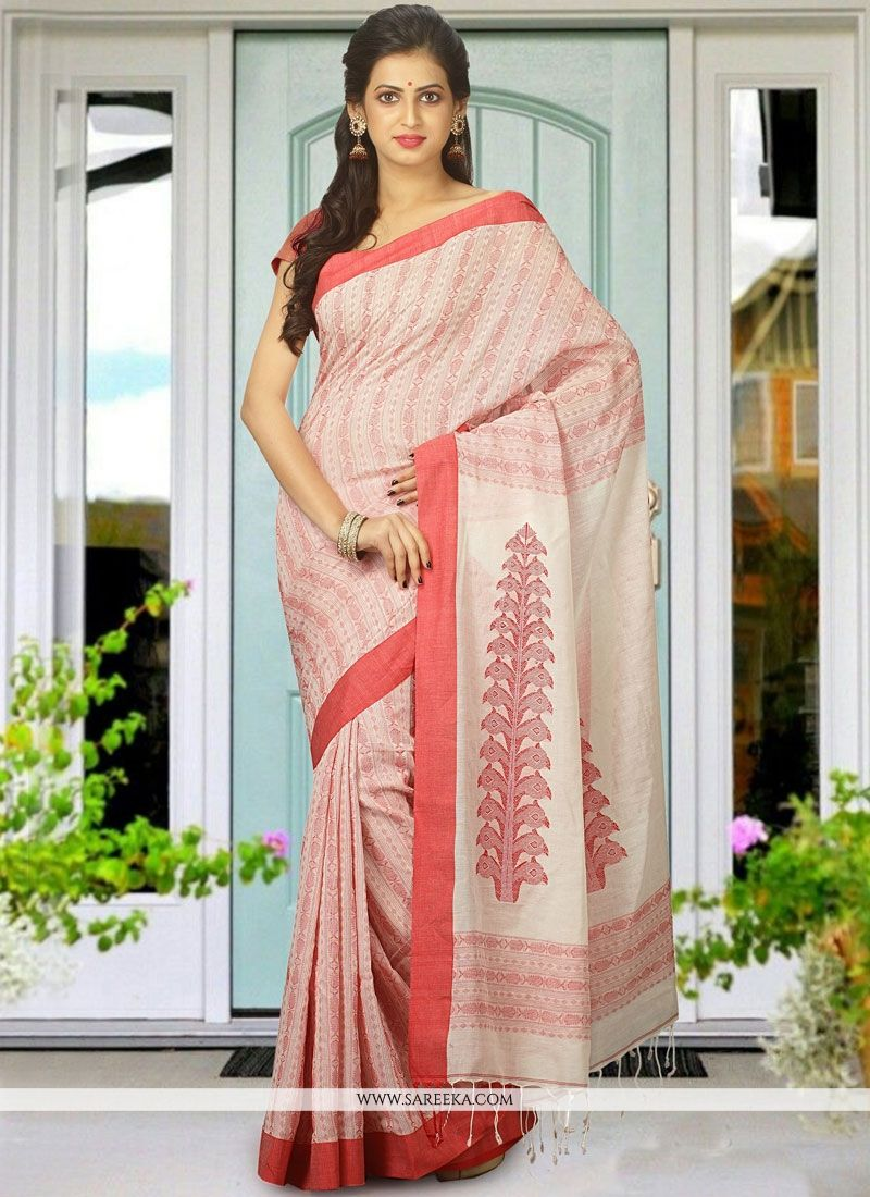 Peach Traditional  Saree