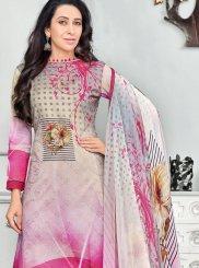 Pink Digital Print Work Cotton   Salwar Kameez