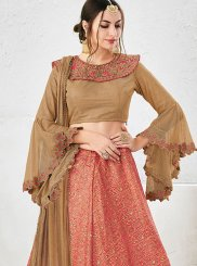 Pink Embroidered Work Lehenga Choli