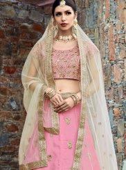 Pink Embroidered Work Lehenga Choli