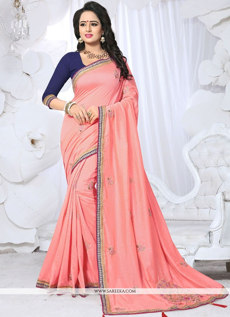 Pink Fancy Fabric Designer Saree