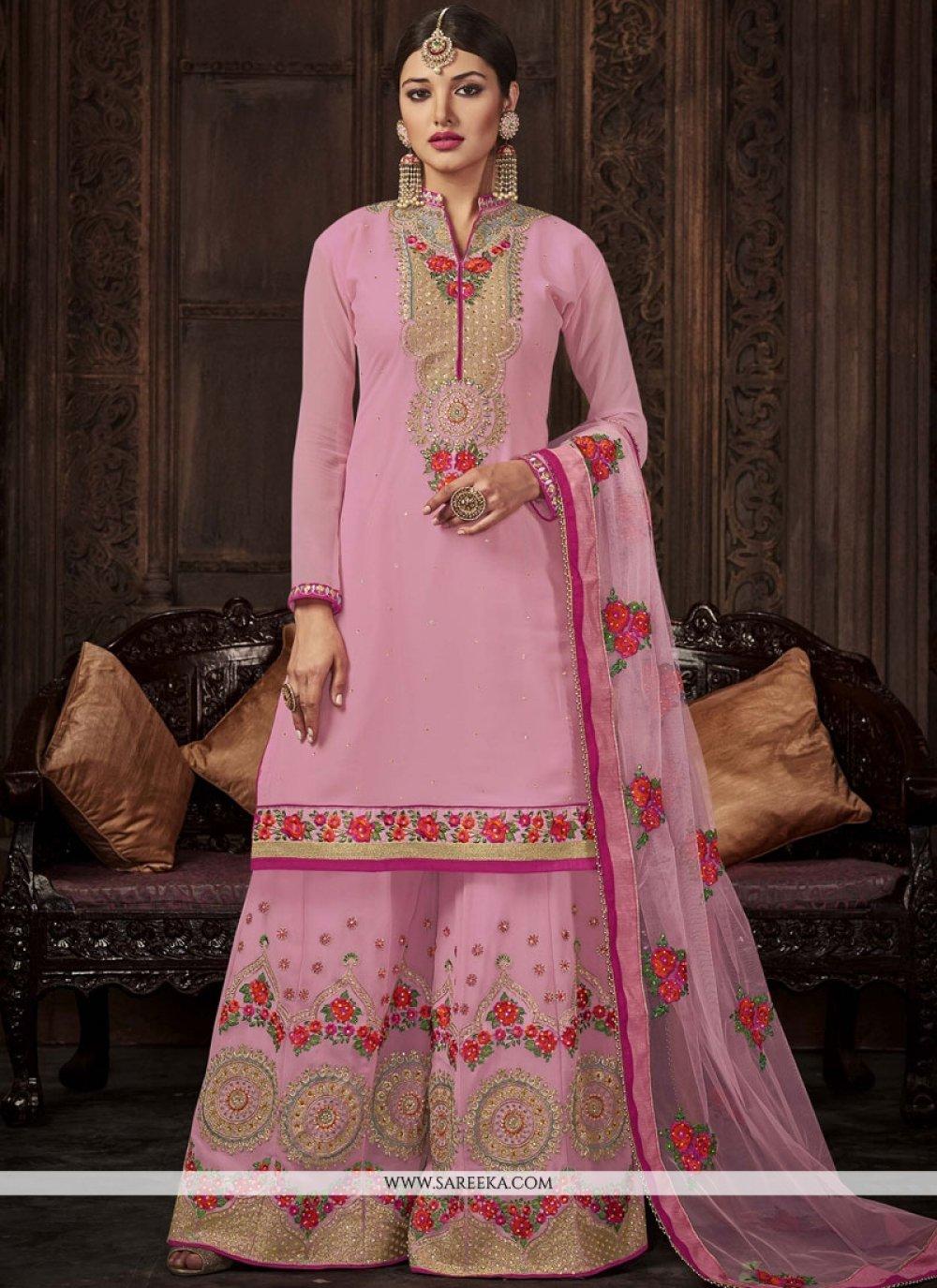 Pink Palazzo Salwar Kameez
