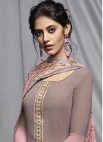 Pink Print Festival Churidar Designer Suit