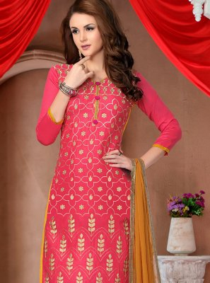 Pink Resham Pant Style Suit