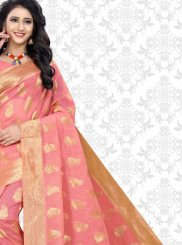 Pink Woven Party Classic Saree