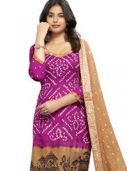Pleasant Purple Color Churidar Suit