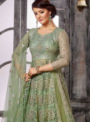 Pleasing Green Embroidered Anarklai Suit