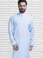 Polly Cotton Kurta Pyjama in Blue