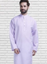Polly Cotton Kurta Pyjama in Violet
