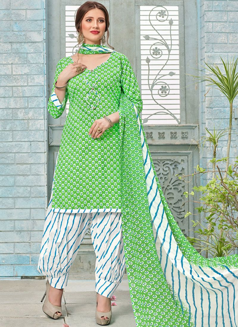 Poly Cotton Punjabi Suit