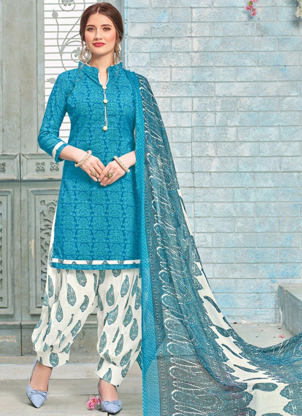 Poly Cotton Punjabi Suit