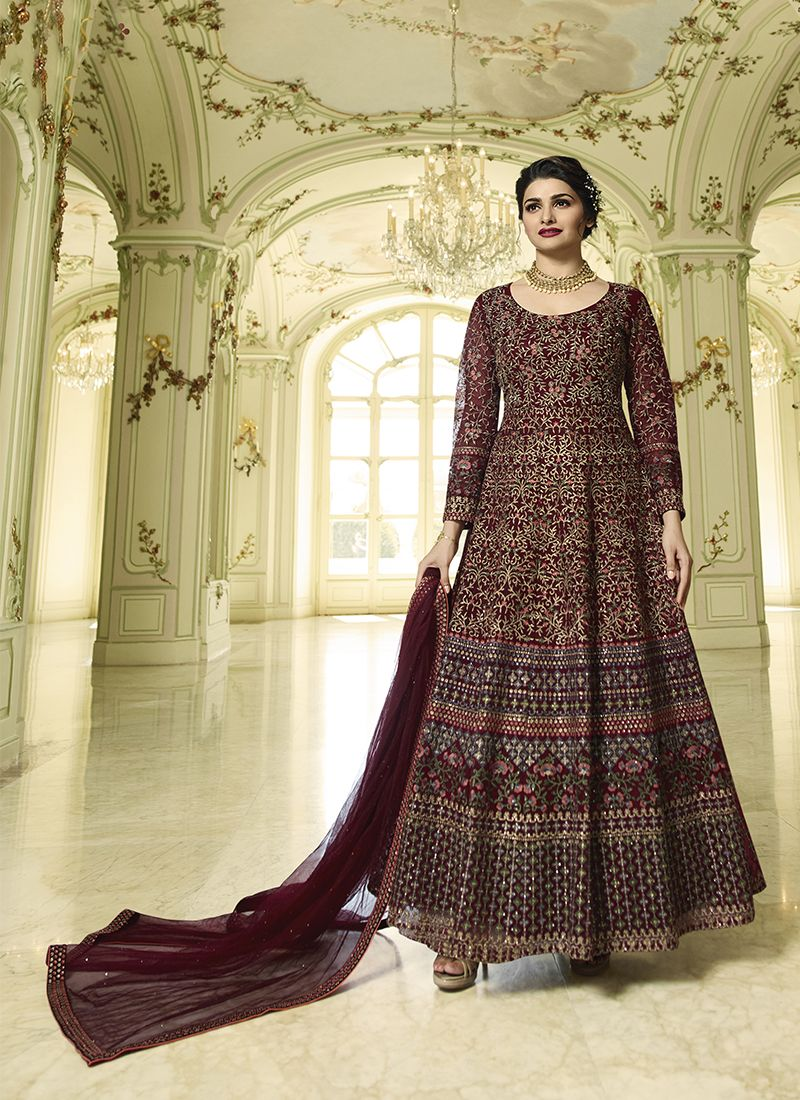 Prachi Desai Net Floor Length Anarkali Suit