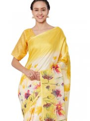 Print Art Silk Casual Saree