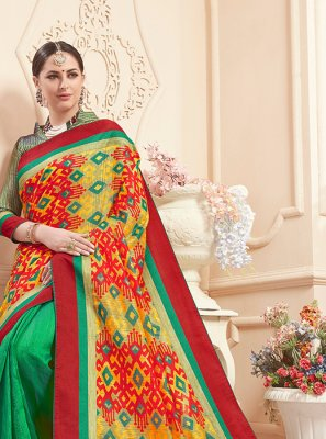 Print Art Silk Classic Saree