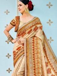 Print Art Silk Multi Colour Designer Traditional Saree