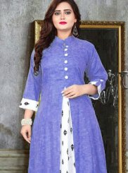 Print Blue Party Wear Kurti